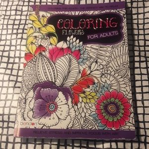 Adult Coloring Book: Coloring Flowers